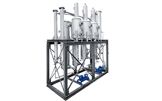 Caustic recovery plants for the finishing process of the textile industry