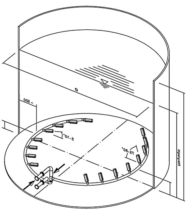 Modell eines Körting Tankmischsystems
